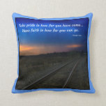 Take pride in how far you have come... pillow