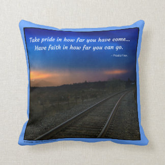 Take pride in how far you have come pillow