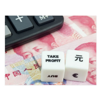 Take Profit Chinese Yuan Postcard