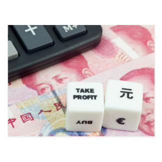 Take Profit Chinese Yuan Postcard