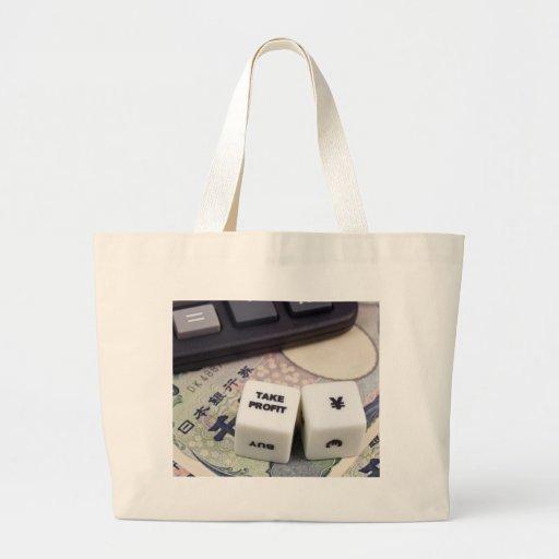 Take profit Japanese Yen Canvas Bag