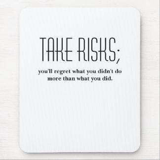 take risks mouse pad