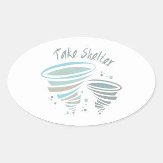 Take Shelter Oval Sticker