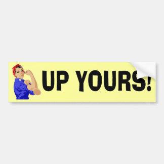 Take That! Car Bumper Sticker