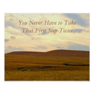 Take that First Step Recovery Poster