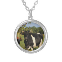 Take the Bull by the Horns Silver Plated Necklace