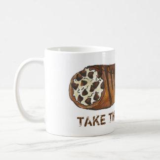 Take the Cannoli Chocolate Italian Cannolis Mug
