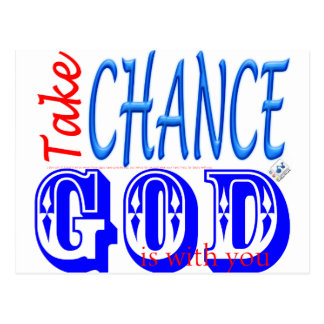 Take the chance, GOD IS with you  - 1 Samuel 10:7 Postcard