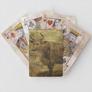 Take the Cow by the Horns Bicycle Playing Cards