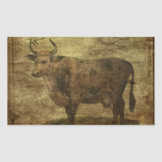 Take the Cow by the Horns Rectangular Sticker