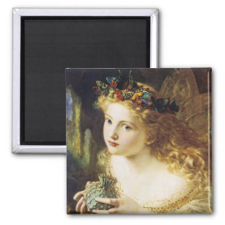 Take The Fair Face of Woman 2 Inch Square Magnet