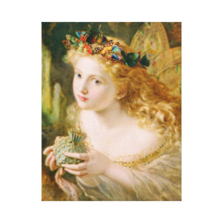 Take the Fair Face of Woman Vintage Fine Art Canvas Print