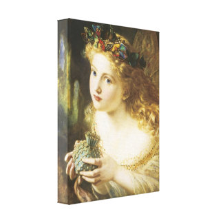Take the Fair Face of Woman Wrapped Canvas Canvas Prints