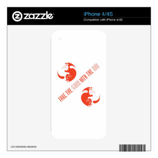 Take The Good With The Bad iPhone 4S Decal