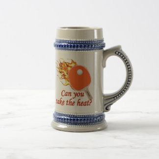 Take the Heat Flaming Ping Pong Beer Stein