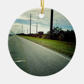 Take The Long Way Home Ceramic Ornament
