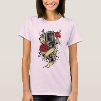 Take the Mic Microphone roses Music T-shirt