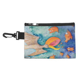 """Take the plunge!"" Pelican & Fish Art Accessory Bag"