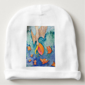 """""""Take the plunge!"""" Pelican & Fish Art Baby Beanie"""