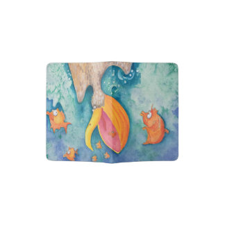 """Take the plunge!"" Pelican & Fish Art Passport Holder"