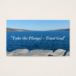 Take the Plunge! Trust God! Business Card