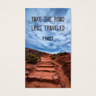 Take the road less traveled - Robert Frost Business Card