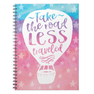 Take the Road Less Traveled Spiral Notebook
