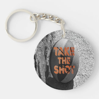 Take the Shot Basketball Quote Keychain