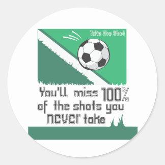 Take The Shot Classic Round Sticker