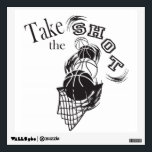 """Take the Shot Wall Sticker<br><div class=""""desc"""">Take the shot Wall Decal. Great for the basketball player in your life. Made with high resolution vector and/or digital graphics for a professional print. NOTE: (THIS IS A PRINT. All zazzle product designs are &quot;prints&quot; unless otherwise stated under &quot;About This Product&quot; area) The design will be printed EXACTLY like...</div>"""