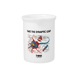 Take The Synaptic Leap Think (Neuron Synapse) Beverage Pitchers