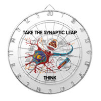 Take The Synaptic Leap Think (Neuron Synapse) Dartboard