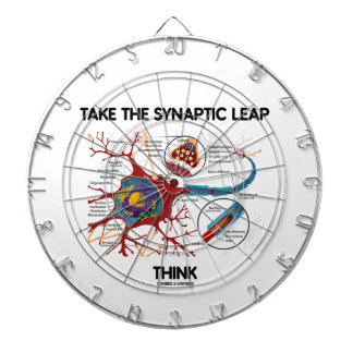 Take The Synaptic Leap Think (Neuron Synapse) Dartboard