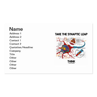 Take The Synaptic Leap Think (Neuron / Synapse) Double-Sided Standard Business Cards (Pack Of 100)