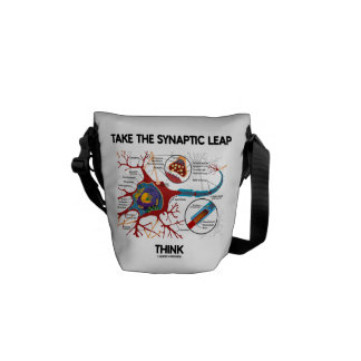 Take The Synaptic Leap Think (Neuron Synapse) Messenger Bags
