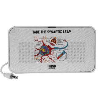 Take The Synaptic Leap Think (Neuron Synapse) Mini Speaker
