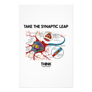 Take The Synaptic Leap Think (Neuron Synapse) Stationery