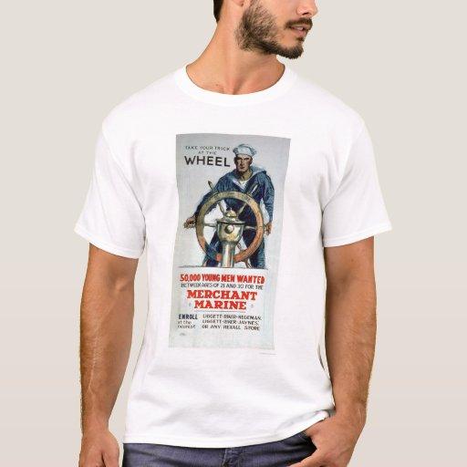 Take the Wheel - Merchant Marine (US02058) T-Shirt