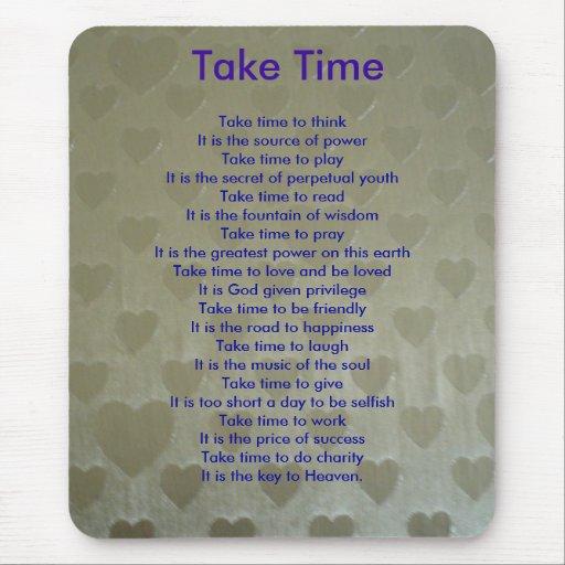 Take time mouse pad