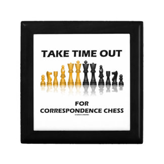 Take Time Out For Correspondence Chess Jewelry Box