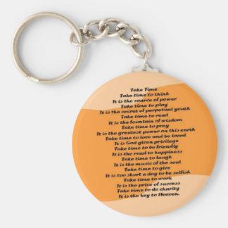 Take Time Poem Keychain