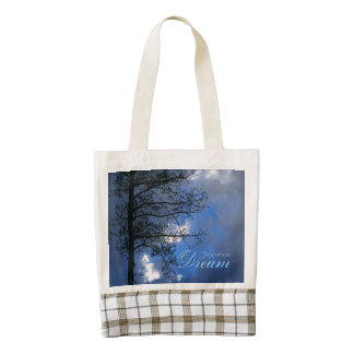 Take Time To Dream Aspen in Clouds Zazzle HEART Tote Bag