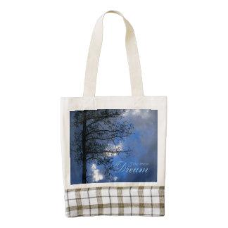 Take Time To Dream Aspen in Clouds Zazzle HEART Tote Bag