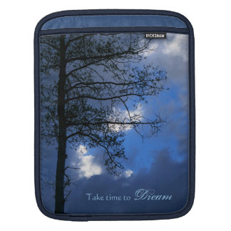 Take Time to Dream Solitary Aspen in Clouds iPad Sleeve