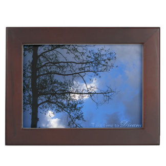 Take Time to Dream Solitary Aspen in Clouds Memory Box