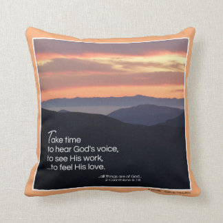 Take time to hear God's voice... Pillow