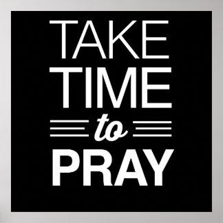Take Time to Pray Poster