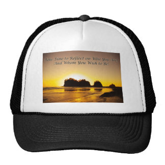 take time to reflect trucker hat