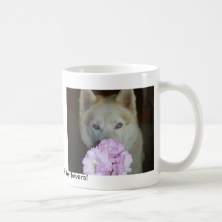 Take time to smell the flowers! coffee mug