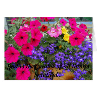 Take time to stop and smell the flowers! greeting card